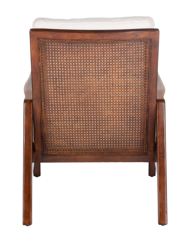 Secora Wood Frame Accent Chair Oatmeal