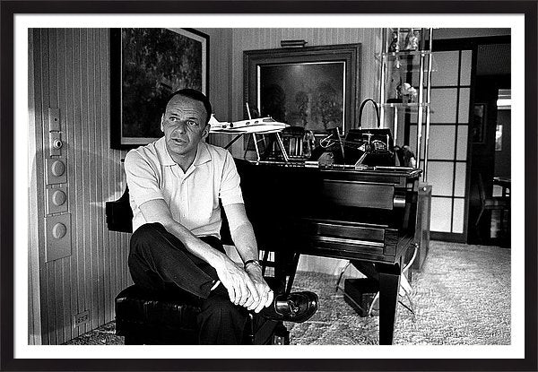 Entertainer Frank Sinatra Sitting On Framed Print