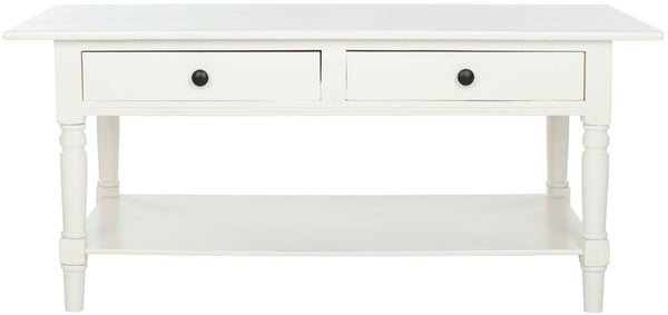 Katrina 2 Drawer Coffee Table Distressed Cream