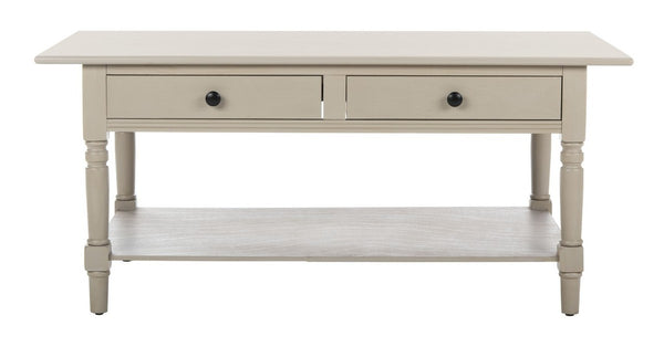Katrina 2 Drawer Coffee Table Vintage Grey
