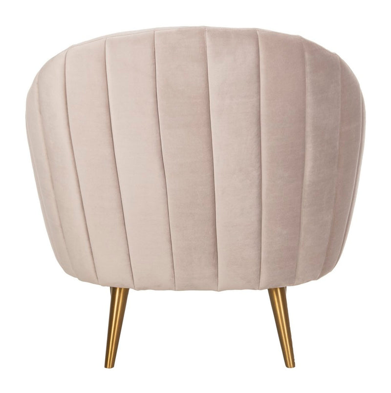 Kasia Channel Tufted Tub Chair Pale Taupe