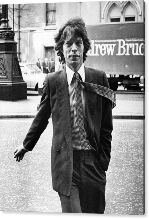 Mick Jagger, British rock group the Rolling Stones Acrylic print