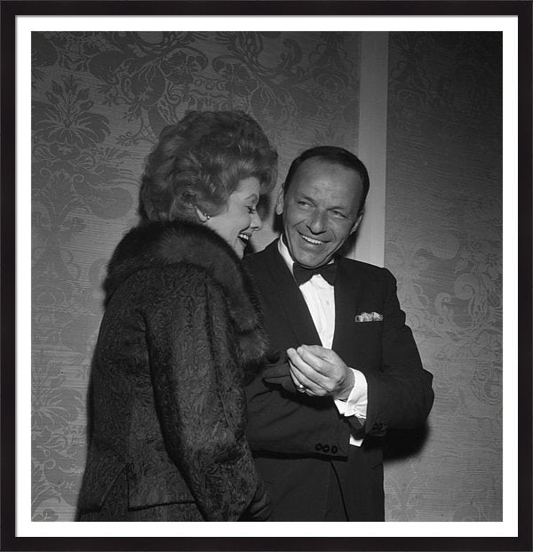 Frank Sinatra And Lucille Ball Framed Print