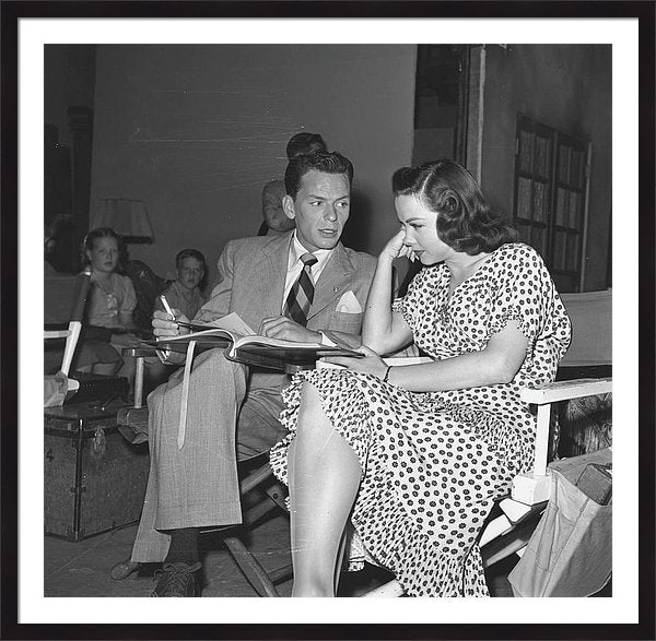 Frank Sinatra On Set Framed Print