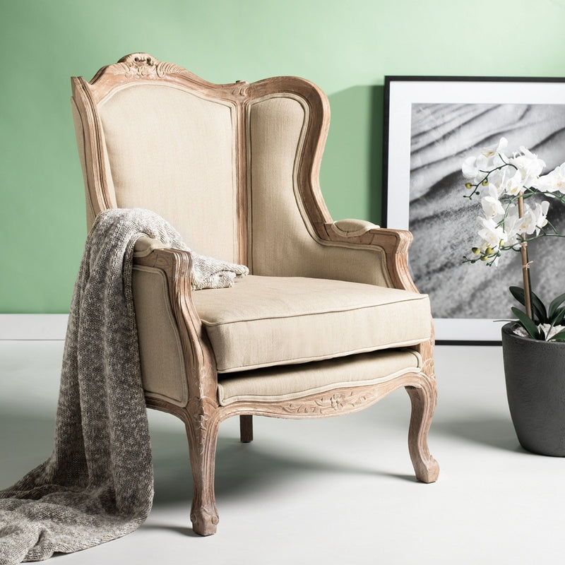 Albion Linen Wing Chair