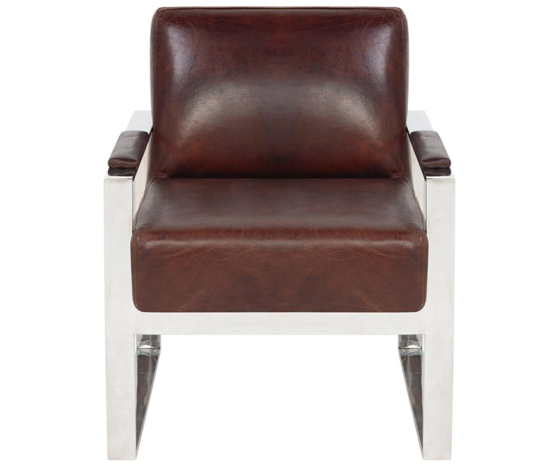 Allard Occassional Leather Chair Vintage Cigar Brown