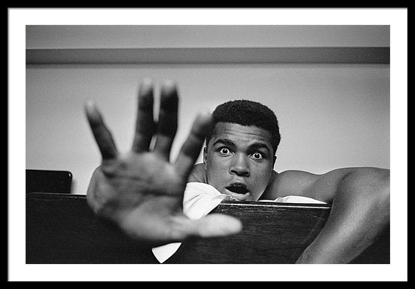 Heavyweight boxer Cassius Clay Give Me Five Framed Print