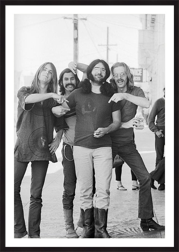 Grateful Dead Portrait Session In Sf Framed Print