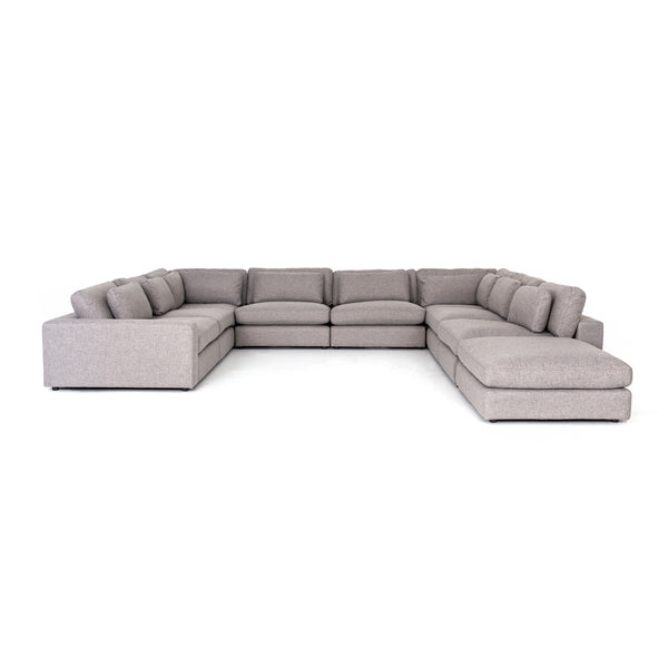Griffin 8 Piece Sectional w/Ottoman Chess Pewter