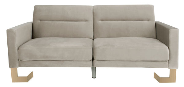Bree Foldable Sofa Bed Grey/ Brass