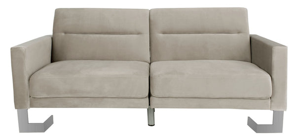 Bree Foldable Sofa Bed Grey/ Silver