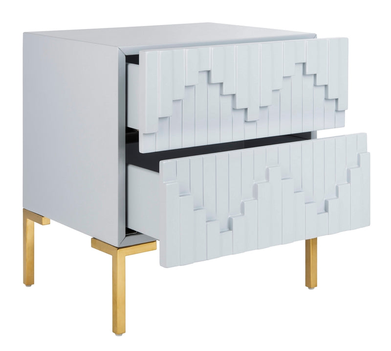 Sharpie Zigzag Side Table Grey / Gold