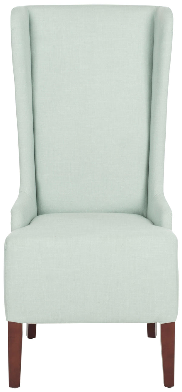 Lauren 20'' H Linen Dining Chair (Set of 2) Seafoam Green/ Cherry Mahogany