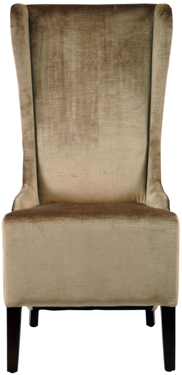 Lauren 20'' H Velvet Dining Chair (Set of 2) Dark Champagne/ Cherry Mahogany
