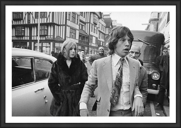 Mick Jagger and his former girlfriend, singer and actress Marianne Faithfull