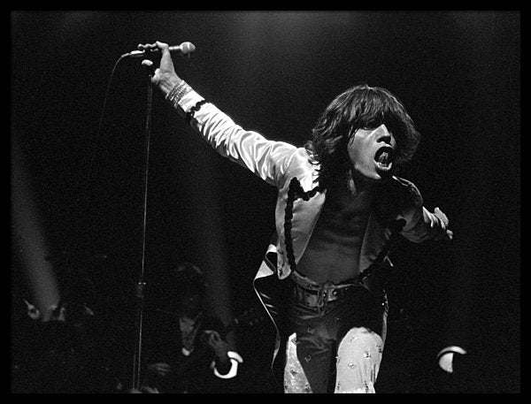 Mick Jagger in performance at Sportpaleis AHOY, Rotterdam, 13th October 1973