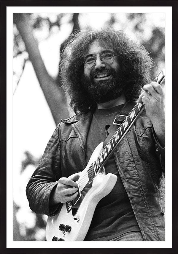 Jerry Garcia Performs Live Framed Print