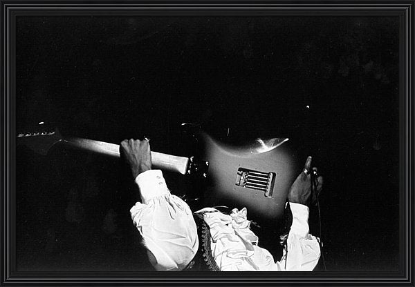 Jimi Hendrix Performs At Monterey Framed Print