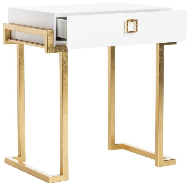 Larue Lacquer Side Table White