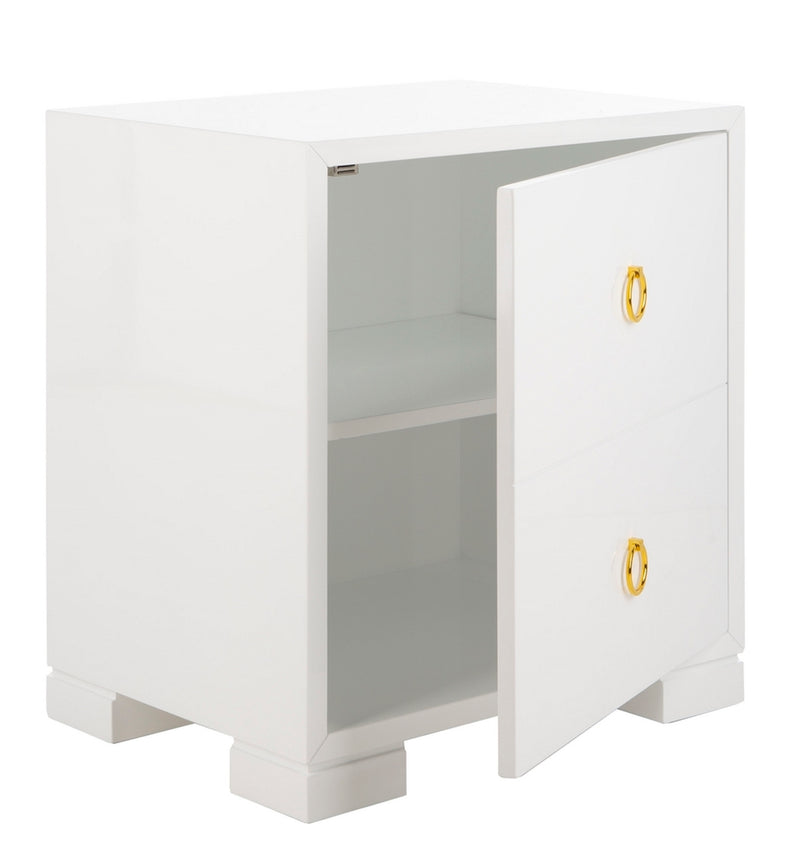 Nora Lacquer Chest White