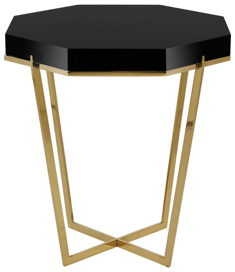 Canton Metal End Table Black