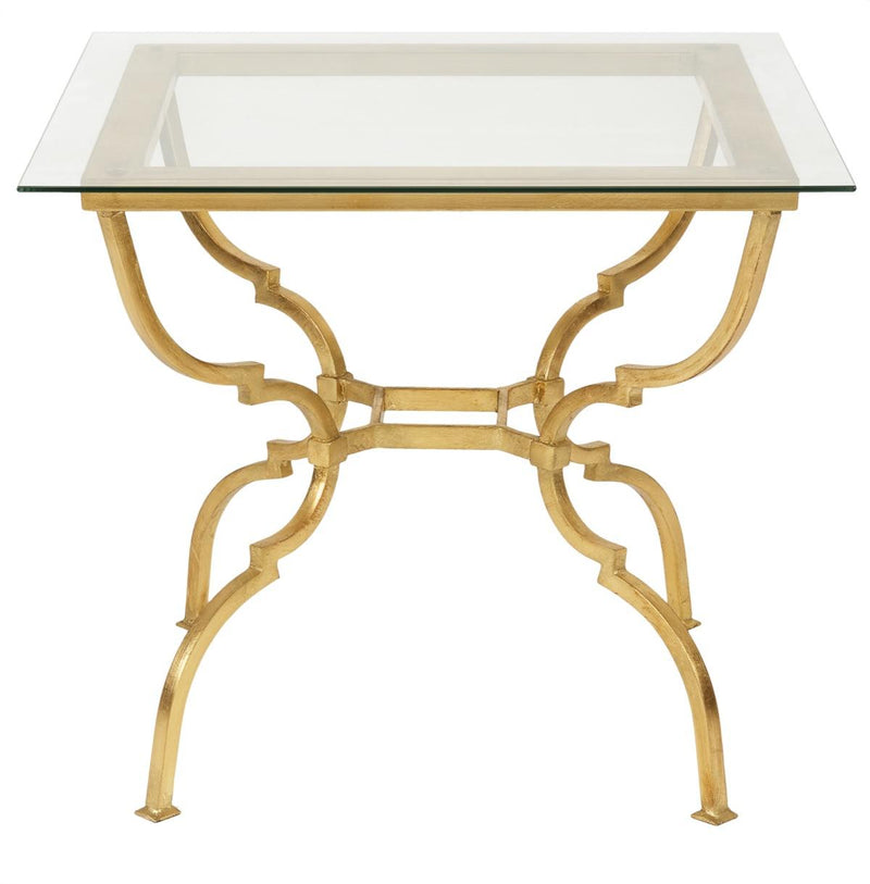 Lesley Gold Leaf Glass Side Table
