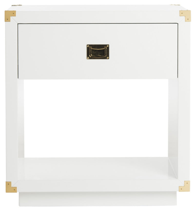 Maven Lacquer Side Table White