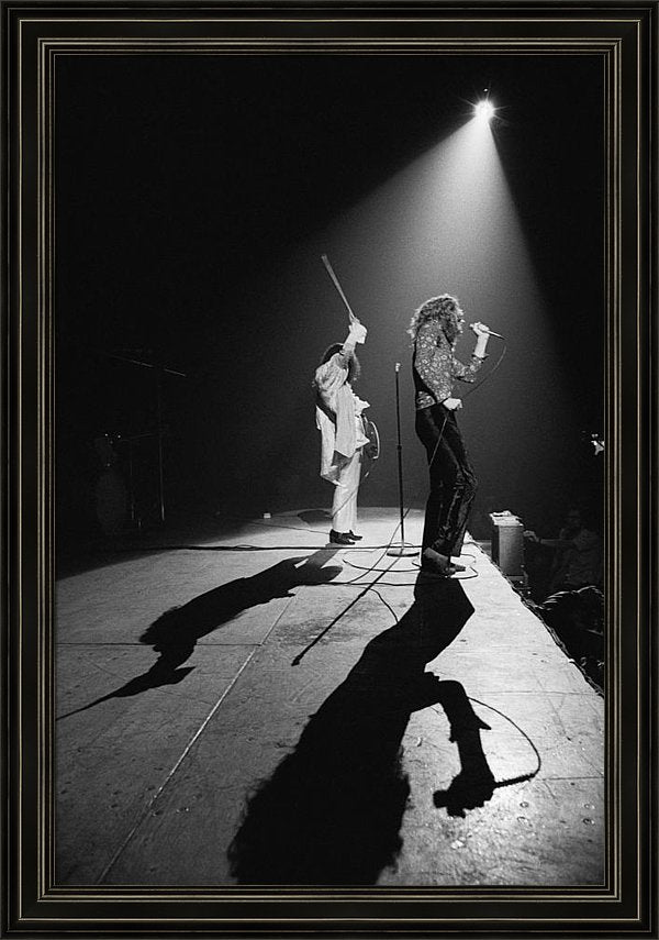 Led Zeppelin Performs In 1972 Framed Print