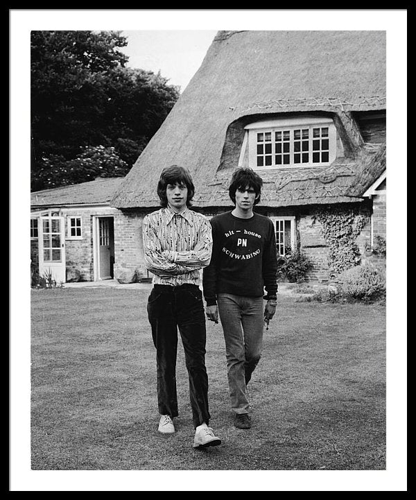 Mick & Keith In The Country Framed Print