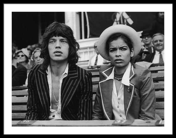 Mick Jagger and his wife Bianca Jagger