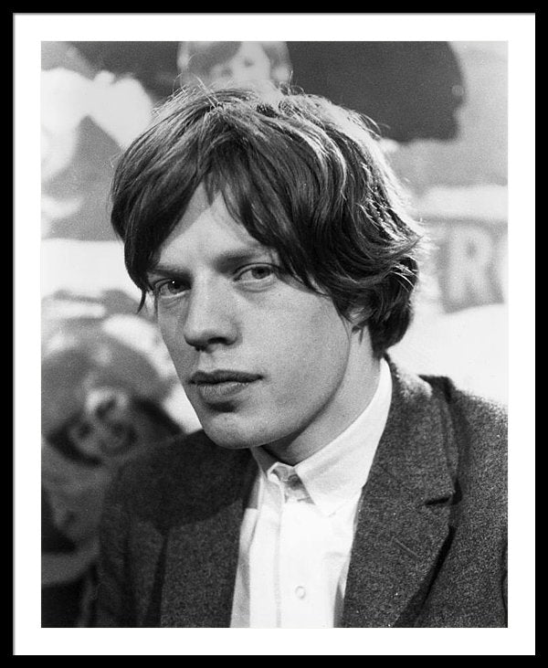 Mick Jagger, lead singer at his first TV appearance
