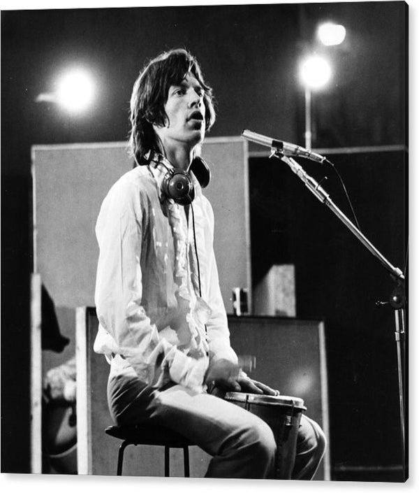 Mick Jagger,  ilming of 'Sympathy For the Devil' Acrylic Print
