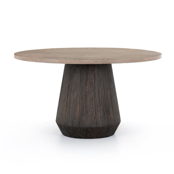 Jaycob Round Dining Table Taupe Concrete