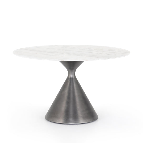 Aubry Dining Table White Marble