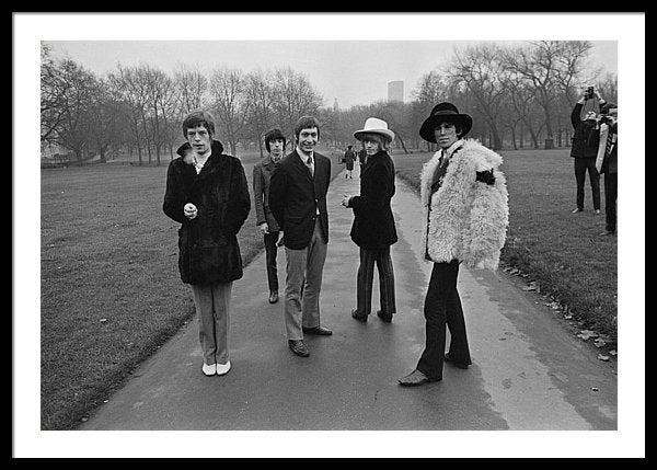 Rolling Stones taking a stroll through London's Green Park