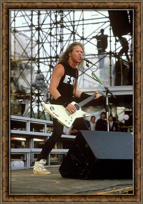 Photo Of James Hetfield And Metallica Framed Print