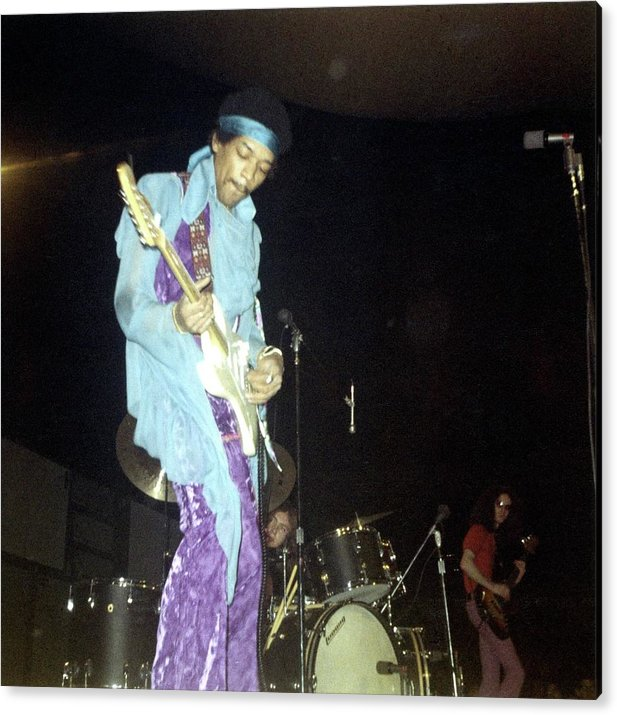 Photo Of Jimi Hendrix And Jimi Hendrix Acrylic Print