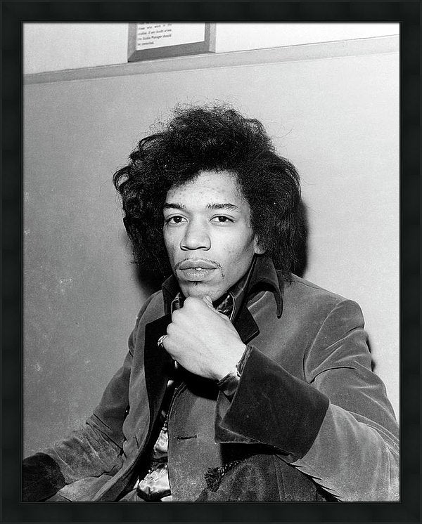 Photo Of Jimi Hendrix Framed Print