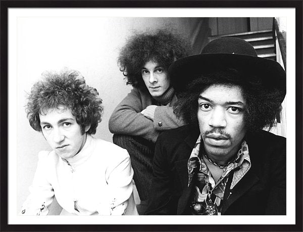 Photo Of Mitch Mitchell And Jimi Framed Print