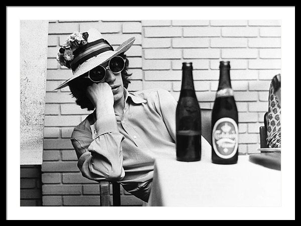 Portrait Of Mick Jagger With A Sun Hat At Copenhagen In Denmark