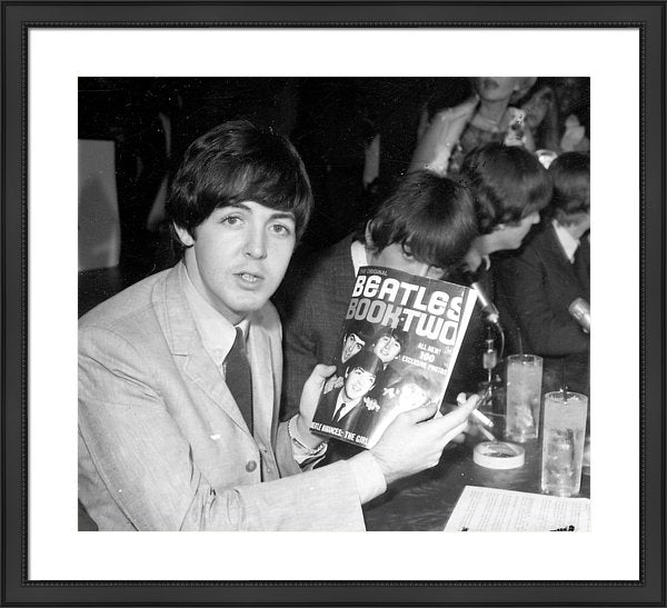 The Beatles Book Two' backstage at their concert at the Hollywood Bowl