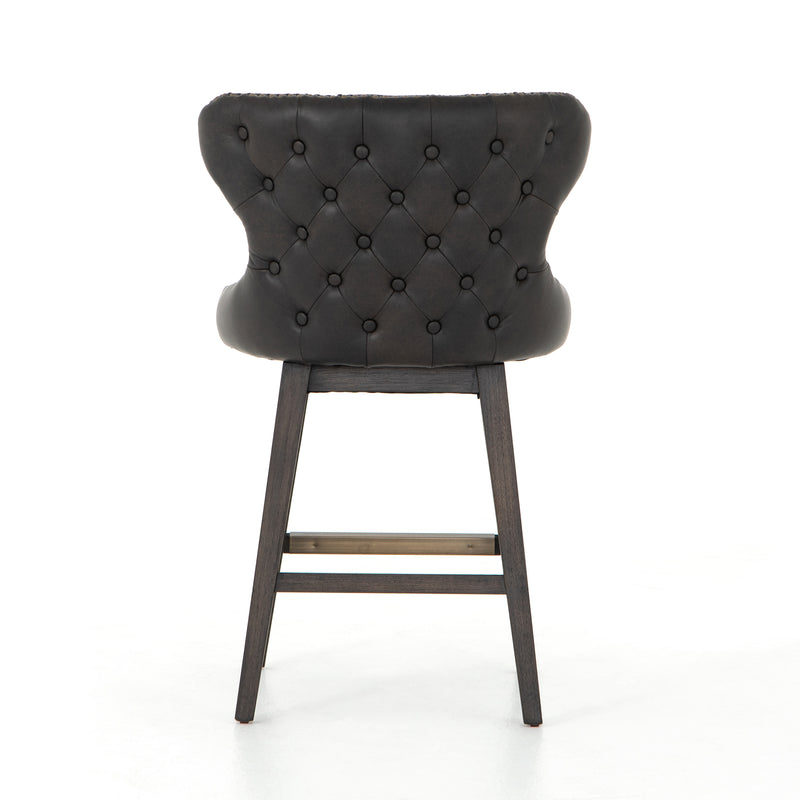 Montez Swivel Counter Stool Distressed Black