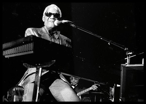 Ray Charles Performing Framed Print