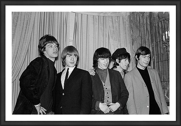 The Rolling Stones' pose for a portrait at the Astor Hotel in October 1964