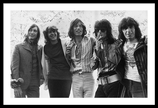 Mick Jagger The group pose in Hyde Park 13th June 1969