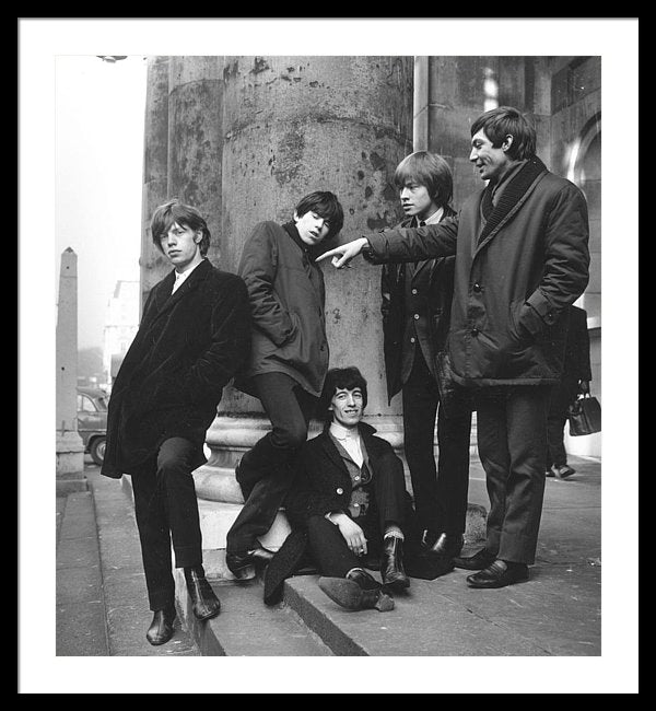 The Rolling Stones on the steps of St George's Hanover Square