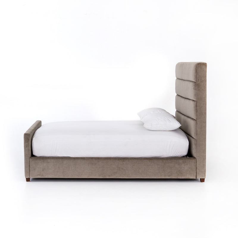 Sybil Bed King Sage Worn Velvet
