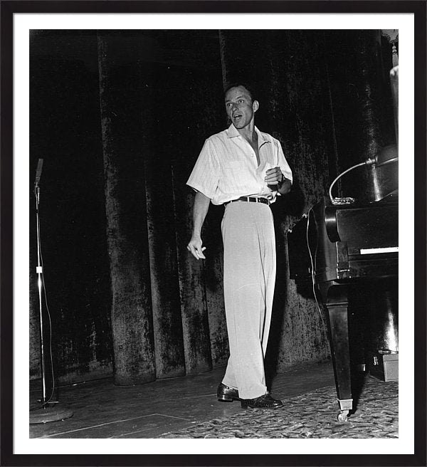Sinatra Rehearsing On Stage Framed Print