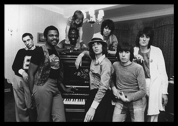 The Rolling Stones together after a British concert, 19th May 1976