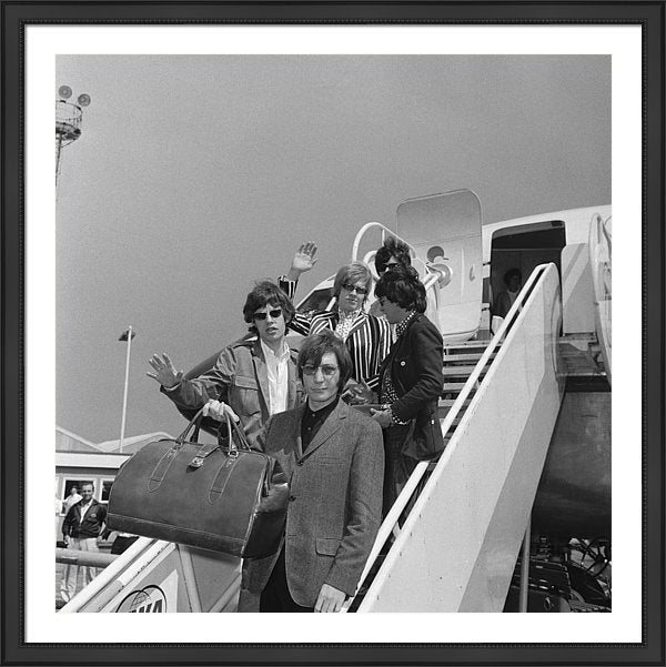The Rolling Stones leave London Airport American tour, 23rd June 1966